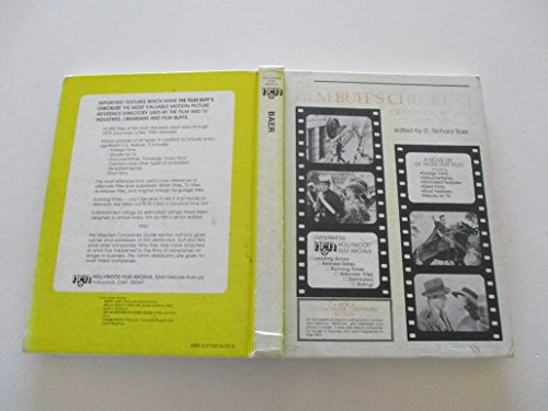 9780913616031: Film Buff's Checklist of Motion Pictures, 1912-79