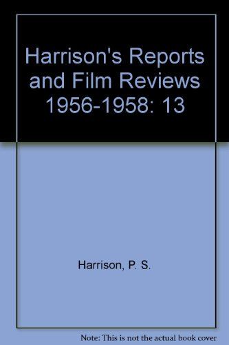 9780913616239: Harrison's Reports and Film Reviews 1956-1958