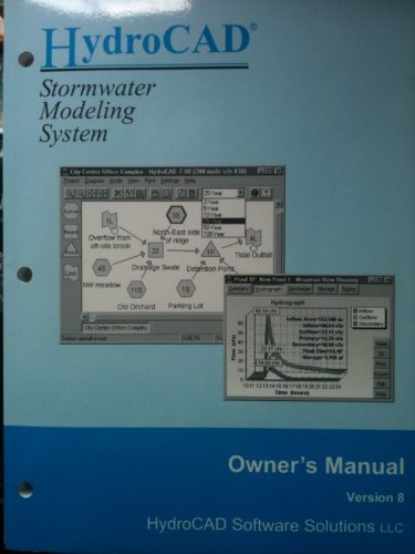 9780913633120: HydroCAD Stormwater Modeling System: Owner's Manual Version 8