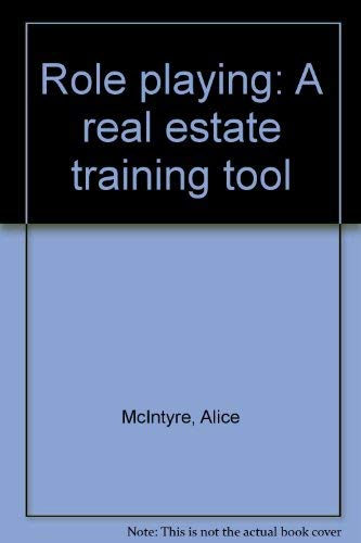 9780913652435: Role playing: A real estate training tool