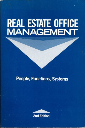 9780913652640: Real Estate Office Management: People, Functions, Systems