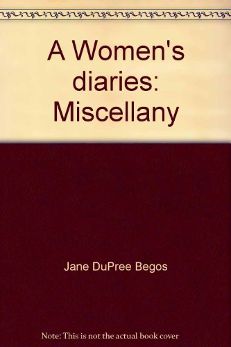 9780913660232: A Women's diaries: Miscellany