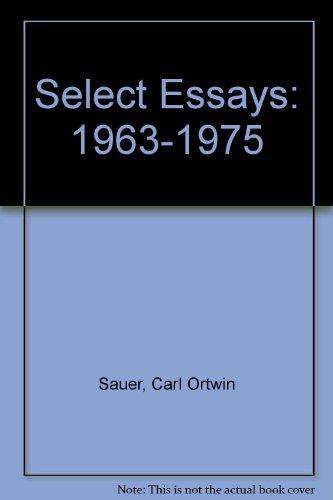 9780913666456: Select Essays: 1963-1975