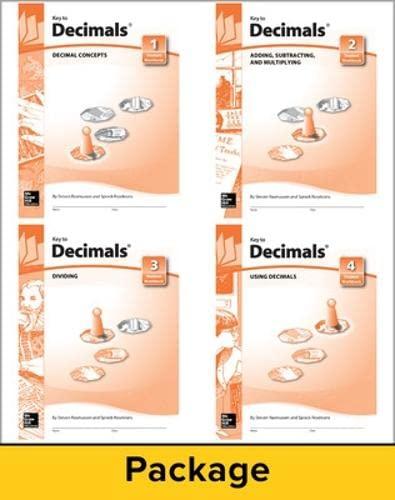 9780913684139: Key to Decimals, Books 1-4 Set (KEY TO...WORKBOOKS)