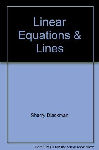 9780913684276: Linear Equations and Lines