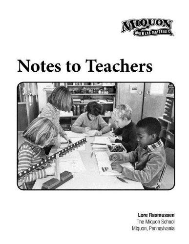 9780913684627: Miquon Notes to Teachers