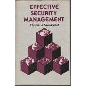 9780913708309: Effective Security Management