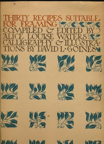 9780913718025: Thirty Recipes Suitable for Framing