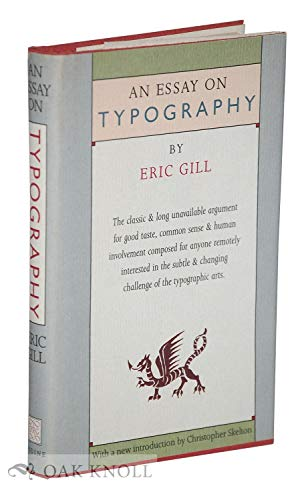 9780913720677: An Essay on Typography