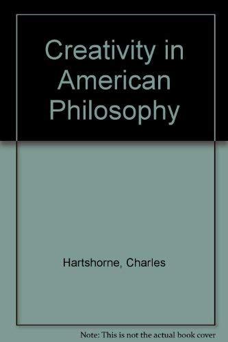 9780913729106: Creativity in American Philosophy