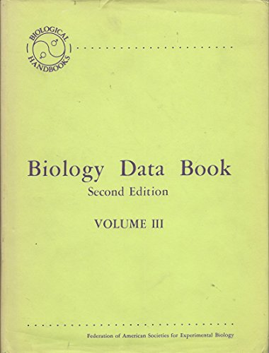 Biology data book (Biological handbooks) (Volume 3): Altman P &