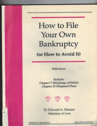 9780913825501: How to file your own bankruptcy (or how to avoid it): With forms (Take the law into your own hands)