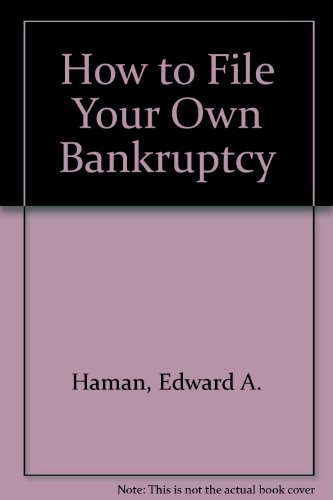 9780913825983: How to File Your Own Bankruptcy (SELF-HELP LAW KIT)
