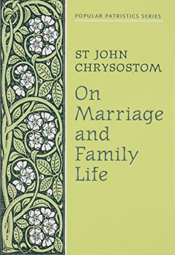 9780913836866: On Marriage and Family Life