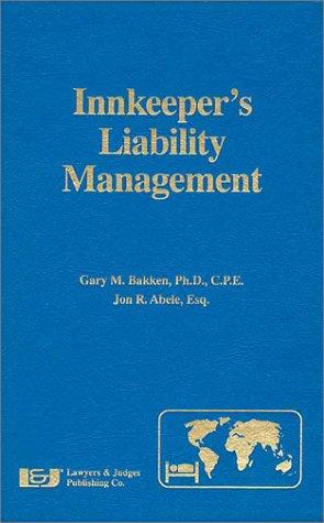 9780913875063: Innkeeper's Liability Management