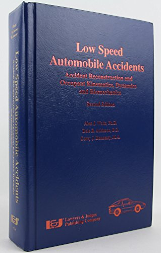 9780913875742: Low-Speed Automobile Accident Reconstruction: Investigation