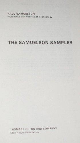 The Samuelson sampler (0913878006) by Paul Anthony Samuelson