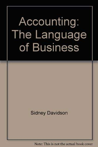 9780913878170: Accounting: The Language of Business