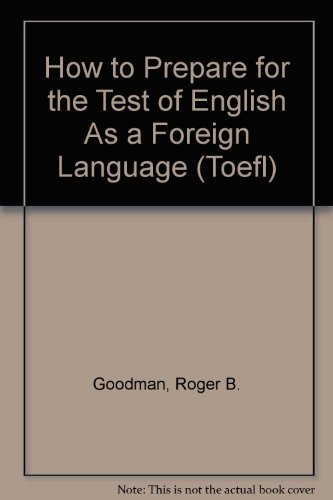 9780913880098: How to Prepare for the Test of English As a Foreign Language (Toefl)
