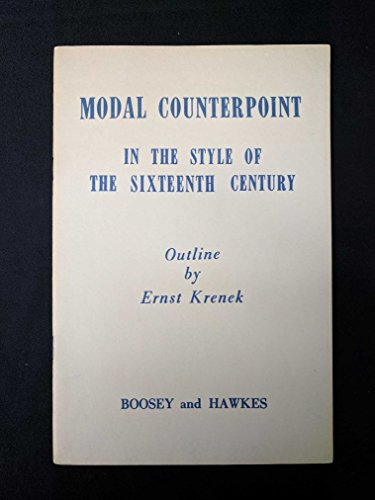 9780913932117: Modal Counterpoint in the Style of the Sixteenth Century