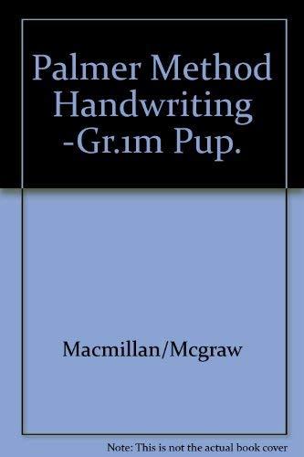 9780913941430: Palmer Method Handwriting -Gr.1m Pup.