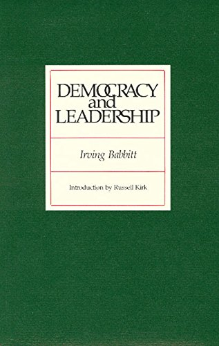9780913966549: Democracy and Leadership