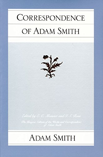 9780913966990: Correspondence of Adam Smith (Glasgow Edition of the Works and Correspondence of Adam Smith)