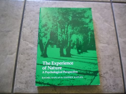 9780914004516: The Experience of Nature: A Psychological Perspective
