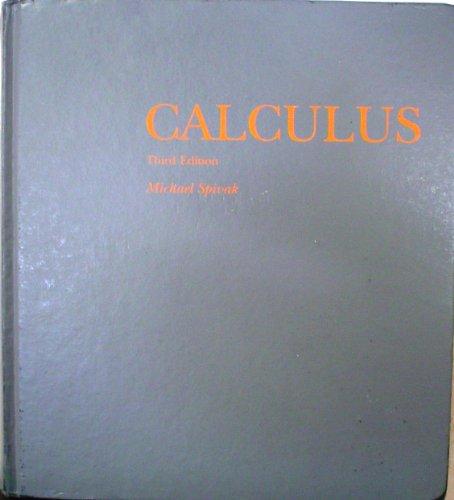 Calculus: Michael Spivak