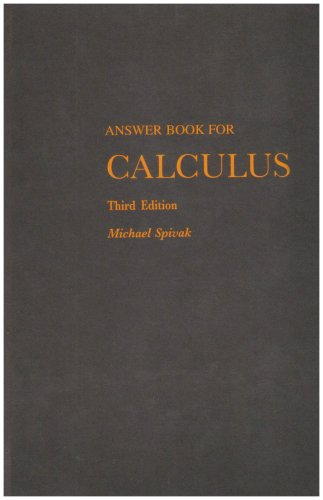 9780914098904: Answer Book for Calculus (3rd Edition)