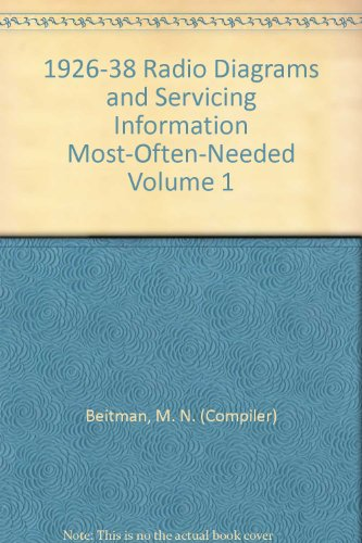 Most-Often-Needed 1939 Radio Diagrams and Servicing Information: Beitman M N
