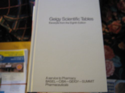 9780914168508: Geigy Scientific Tables, Vol. 1: Units of Measurement, Body Fluid, Composition of Body, and Nutrition
