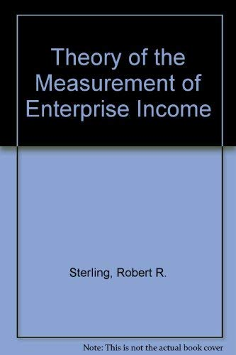 9780914348269: Theory of the Measurement of Enterprise Income