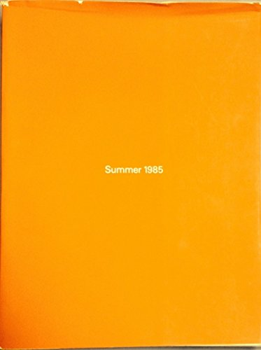 Summer 1985: The Museum of Contemporary Art