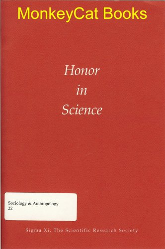 9780914446149: Honor in Science (Sigma Xi)