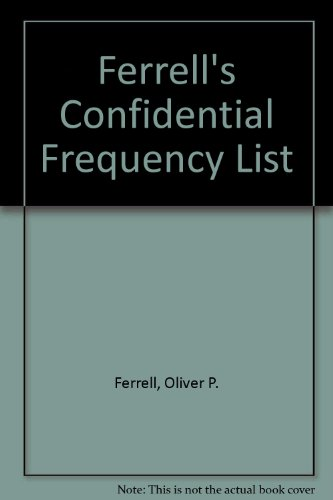 9780914542254: Ferrell's Confidential Frequency List