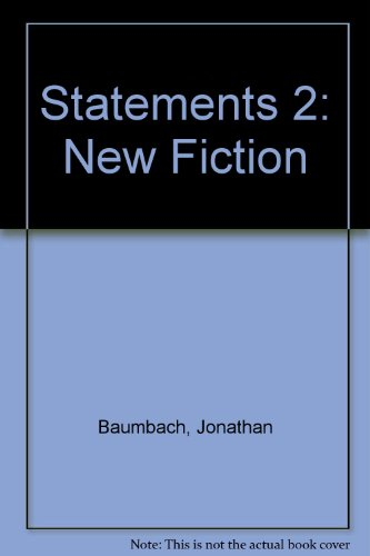 Statements 2: New Fiction: Baumbach, Jonathan; Spielberg, Peter; editors