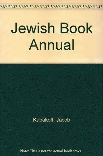 Jewish Book Annual: Kabakoff, Jacob