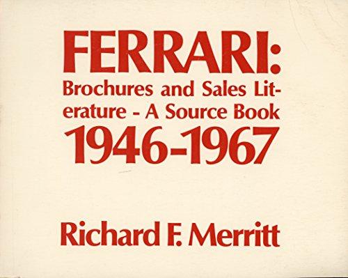 Ferrari: Brochures and Sales Literature - A: Merritt, Richard F.