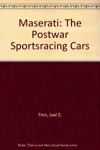 9780914822103: Maserati: The postwar sportsracing cars