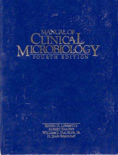 manual of clinical microbiology by edwin h lennette albert balows rh abebooks com Clinical Veterinary Microbiology Clinical Microbiologist