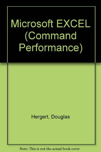 9780914845782: Microsoft EXCEL (Command Performance)