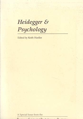 9780914857006: Heidegger and Psychology (Studies in Existential Psychology & Psychiatry)