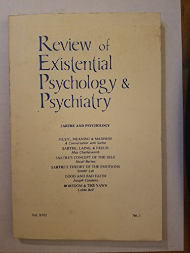 Sartre and Psychology (Review of Existential Psychology: Editor-Keith Hoeller