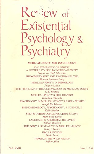 9780914857020: Review of Existential Psychology & Psychiatry : Merleau-Ponty and Psychology