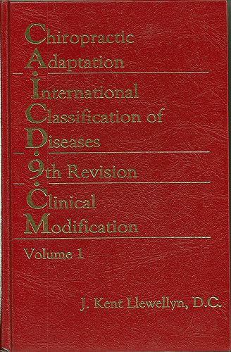 9780914893011: Chiropractic adaptation--international classification of diseases, 9th revision, clinical modification