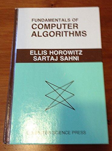 9780914894223: Fundamentals of Computer Algorithms (Computer software engineering series)