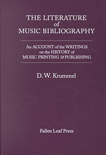 9780914913214: The Literature of Music Bibliography: An Account of the Writings on the History of Music Printing & Publishing