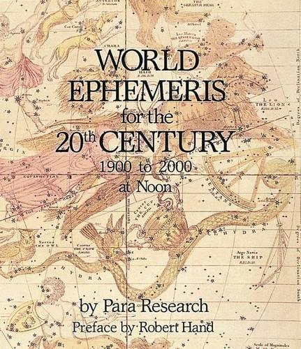 9780914918615: WORLD EPHEMERIS: Noon 20th Century - AbeBooks