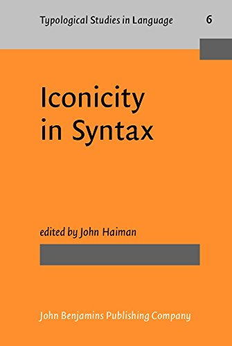 9780915027316: Iconicity in Syntax: Proceedings of a symposium on iconicity in syntax, Stanford, June 24-26, 1983 (Typological Studies in Language)